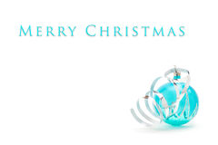 Blue christmas ball on white background Royalty Free Stock Photos