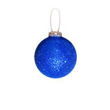Blue Christmas ball. White background. Isolated. Blue Christmas ball. Isolated on white background Royalty Free Stock Image
