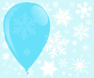Blue Christmas Balloon Stock Images