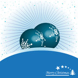 Blue Christmas balls Royalty Free Stock Photo