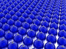 Blue christmas balls. Many blue glass christmas balls Royalty Free Stock Photo