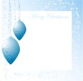 Blue christmas balls Royalty Free Stock Photography
