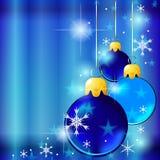 Blue Christmas balls Royalty Free Stock Image