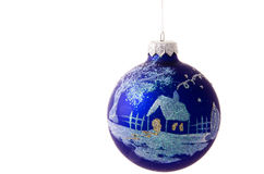 Blue christmas balls Royalty Free Stock Images