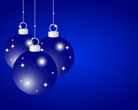 Blue Christmas balls. On a blue background Stock Image