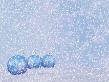 Blue Christmas balls - 3D render Stock Images