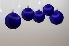 Blue Christmas balls. With glare and reflection Stock Photo