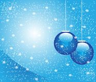 Blue Christmas balls. Illustration as Christmas background Stock Photography