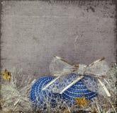 Blue Christmas balls and tinsel Royalty Free Stock Photos