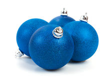 Blue Christmas balls Stock Photos
