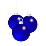 Blue Christmas balls. On a white background Royalty Free Stock Photos