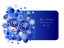 Blue Christmas Banner Stock Photo