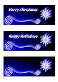Blue Christmas Banners Royalty Free Stock Image