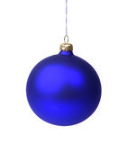 Blue Christmas bauble Stock Image