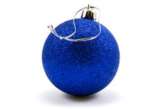 Blue christmas bauble Stock Photo