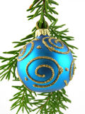 Blue christmas bauble Royalty Free Stock Image
