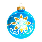 Blue Christmas bauble. Stock Photo