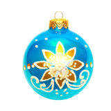 Blue Christmas bauble. Royalty Free Stock Image