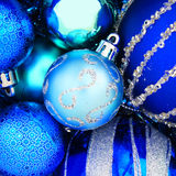 Blue Christmas bauble background Royalty Free Stock Photo
