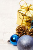 Blue christmas bauble background Royalty Free Stock Photography