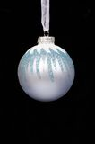 Blue Christmas bauble. Stock Photos