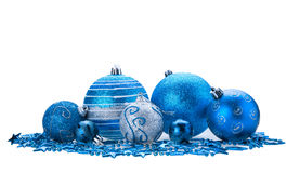 Blue christmas bauble Stock Images