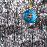 Blue christmas bauble ornament Stock Images