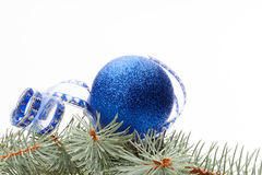 Blue christmas bauble Royalty Free Stock Photo