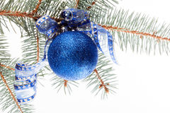 Blue christmas bauble Royalty Free Stock Images