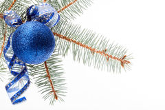 Blue christmas bauble Stock Photos