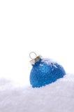 Blue Christmas bauble Stock Photos