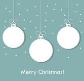 Blue Christmas baubles. Christmas baubles blue background. Vector illustration Stock Image