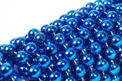 Blue Christmas Bead Royalty Free Stock Photos