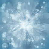 Blue christmas bokeh background Stock Image