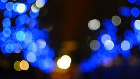 Blue Christmas Bokeh Lights Royalty Free Stock Photography