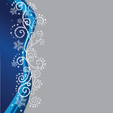 Blue Christmas border Royalty Free Stock Photos