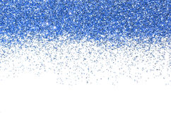 Blue Christmas border. Naturel foiled texture and color. Stock Photos