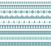 Blue Christmas borders Royalty Free Stock Photo