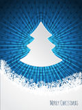 Blue christmas bursting greeting card design Royalty Free Stock Image