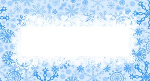 Blue christmas card. Computer generated blue christmas card with snow Royalty Free Stock Images