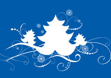 Blue christmas card Royalty Free Stock Images