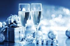 Blue christmas card Stock Photography