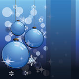 Blue christmas card. To be used as christmas cards, banners, wallpaper, and others Stock Photo