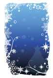 Blue christmas card. To be used as christmas cards, banners, wallpaper, and others Royalty Free Stock Photos