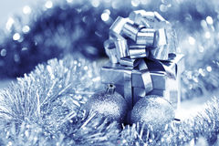 Blue christmas card royalty free stock photo