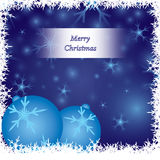 Blue Christmas Card. Ornate Christmas card  design Royalty Free Stock Photography
