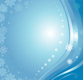 Blue christmas card. Background with snowflakes Royalty Free Stock Photo