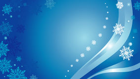 Blue christmas card. Background with snowflakes Royalty Free Stock Photos