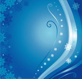 Blue christmas card. Background with snowflakes Stock Photos