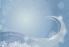 Blue christmas card. Christmas-card  background with snowflakes Royalty Free Stock Photography